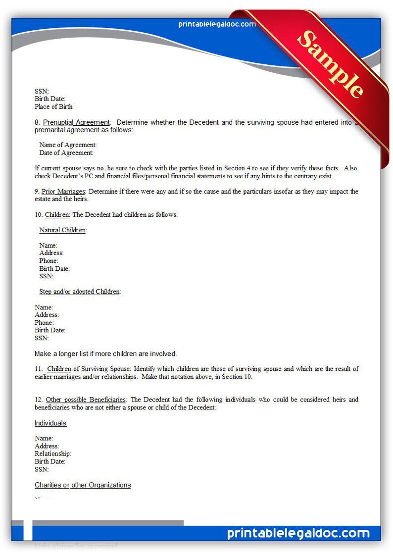 Free Printable Checklist, For Useexecutor | Sample Printable - Free Printable Legal Documents