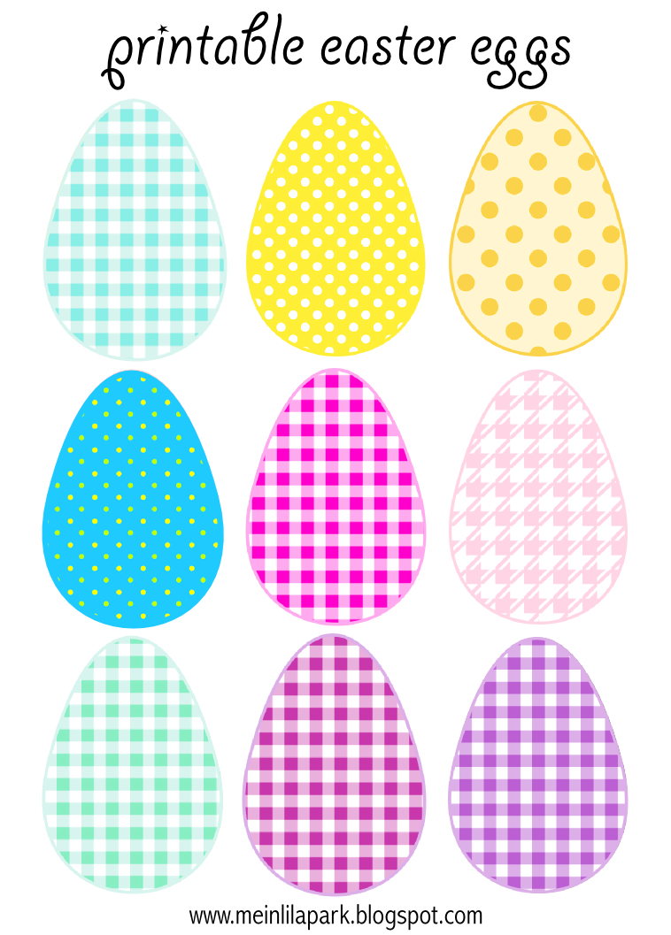Free Printable Cheerfully Colored Easter Eggs - Ausdruckbare - Free Printable Easter Bunting