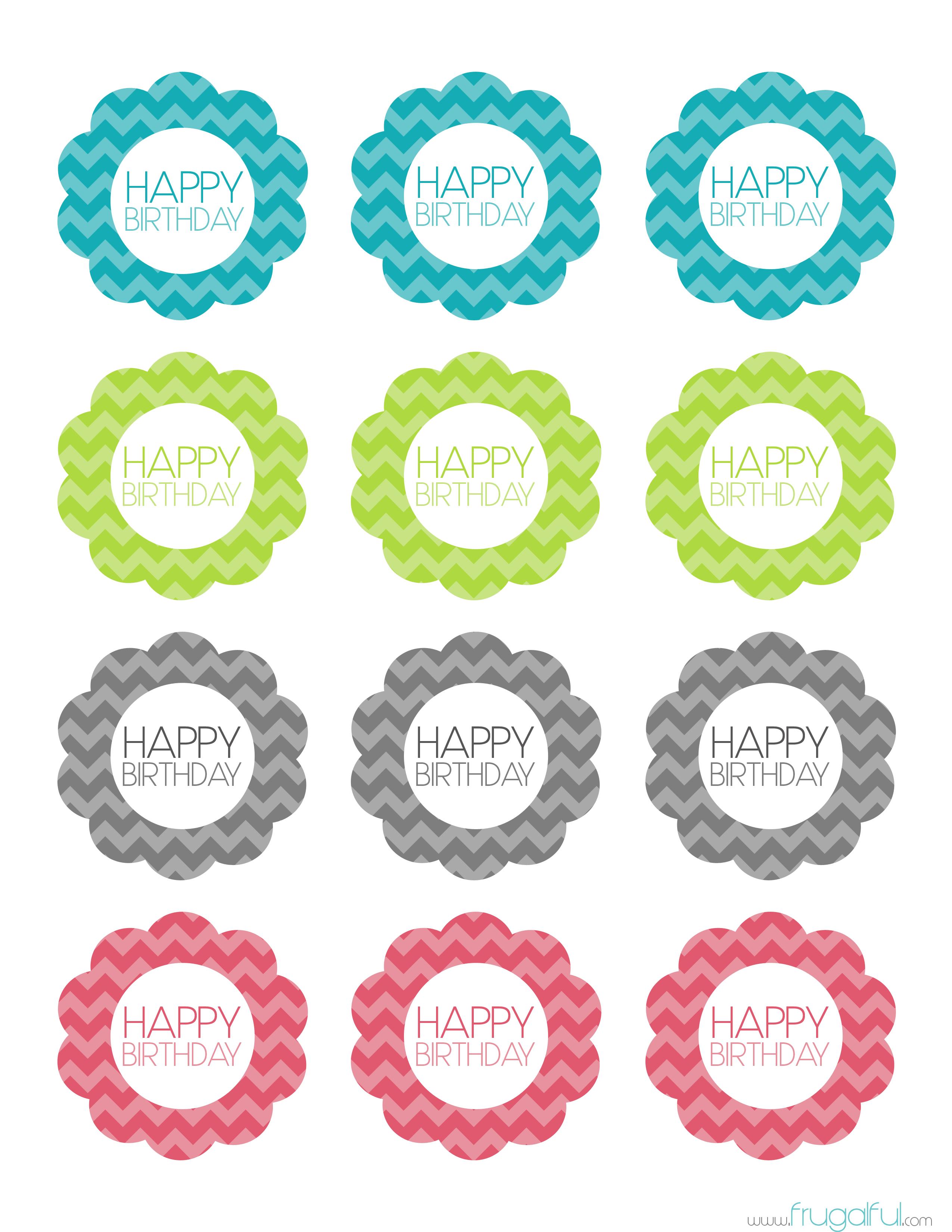 Free Printable Chevron Birthday Cupcake Topper Cakepins - Free Printable Cupcake Toppers