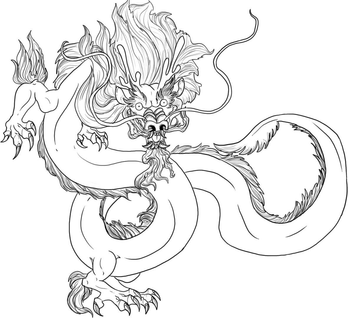 Free Printable Chinese Dragon Coloring Pages For Kids | Chinese - Free Printable Chinese Dragon Coloring Pages