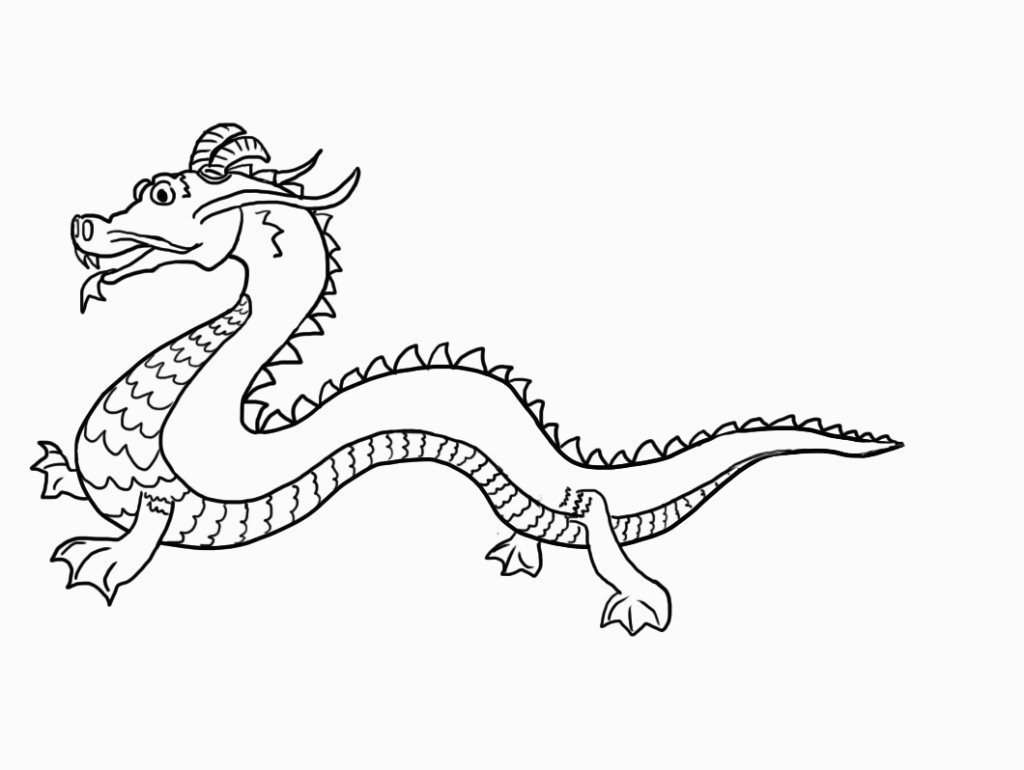 Free Printable Chinese Dragon Coloring Pages For Kids For Dragon - Free Printable Chinese Dragon Coloring Pages