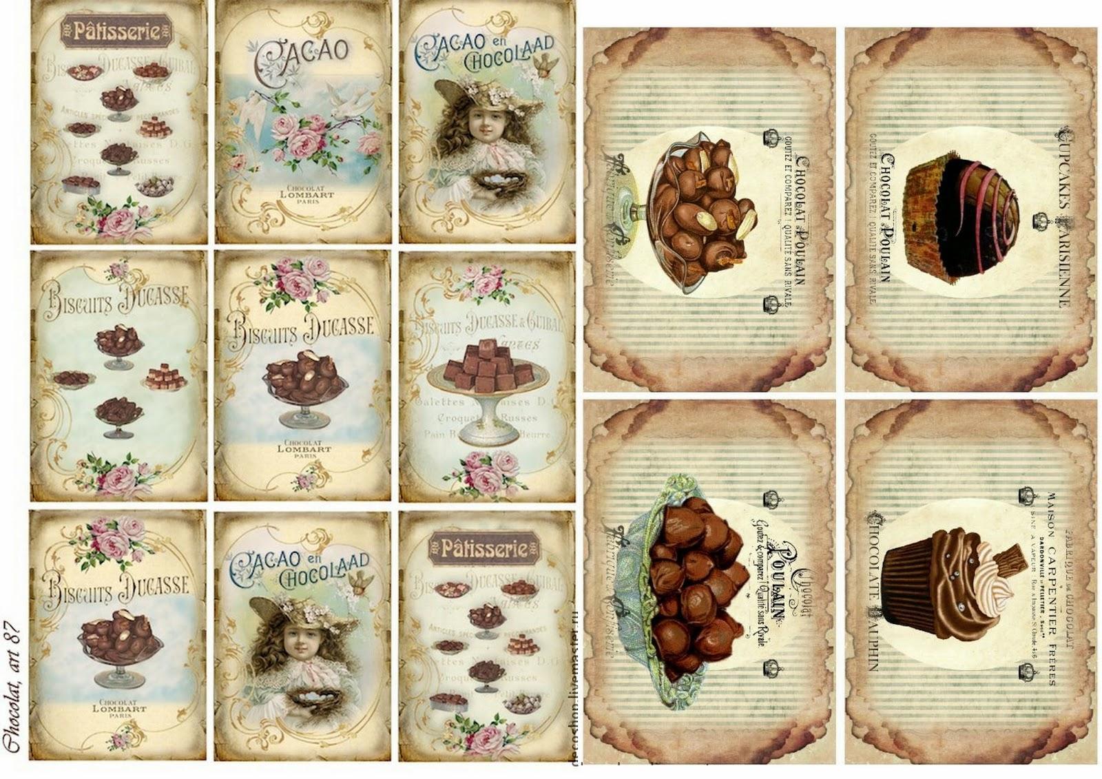 Free Printable Chocolate Vintage Labels. | Oh My Fiesta! In English - Free Printable Vintage Labels