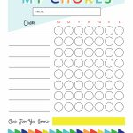Free Printable   Chore Chart For Kids | Ogt Blogger Friends   Free Printable Job Charts For Preschoolers