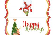 Free Printable Christmas Bag Toppers
