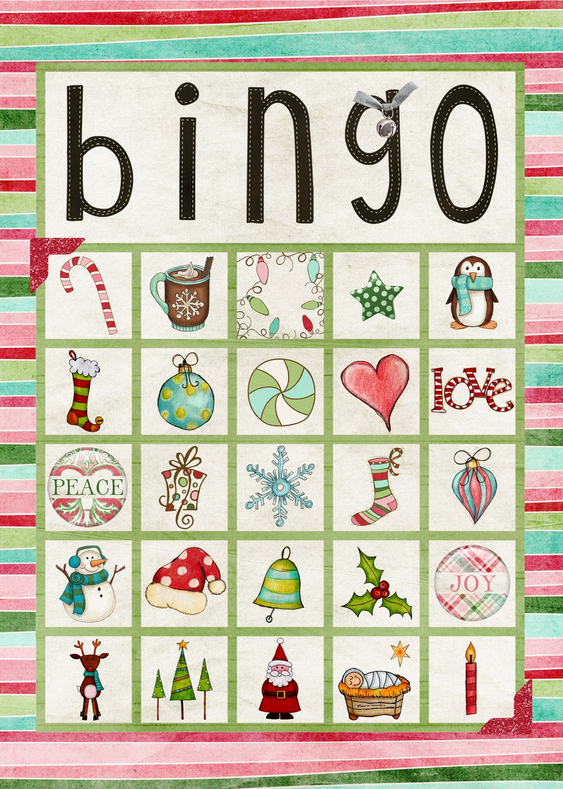 Free Printable Christmas Bingo Cards For Large Groups - Printable Cards - Free Printable Christmas Bingo