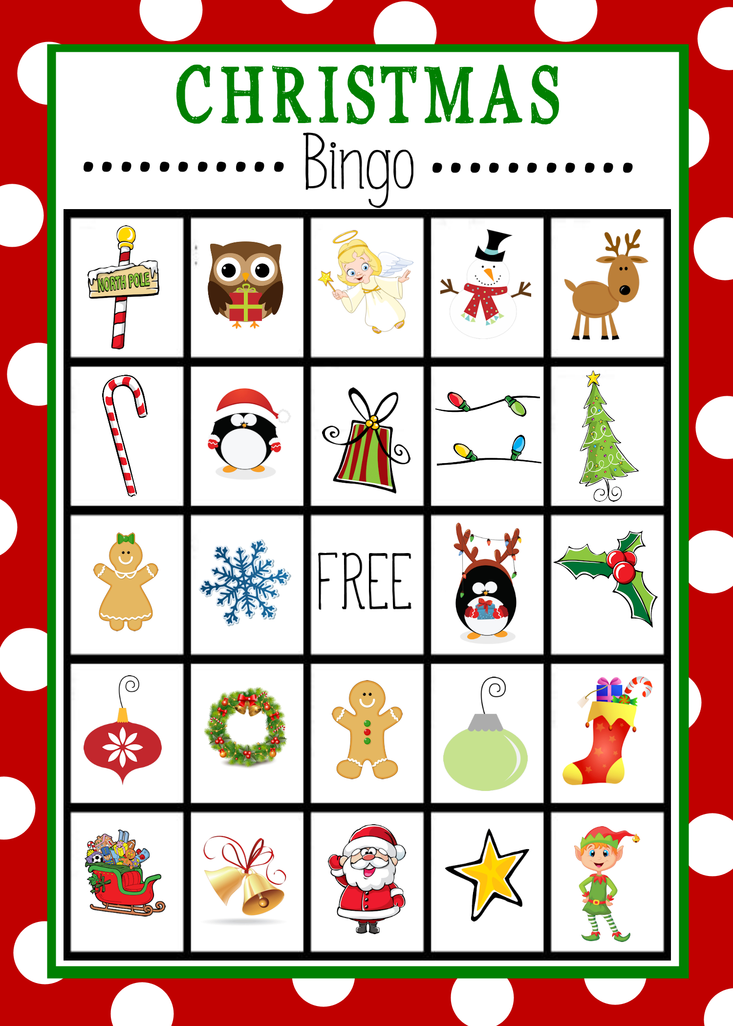 Free Printable Christmas Bingo Game | Christmas | Pinterest - Free Bingo Patterns Printable