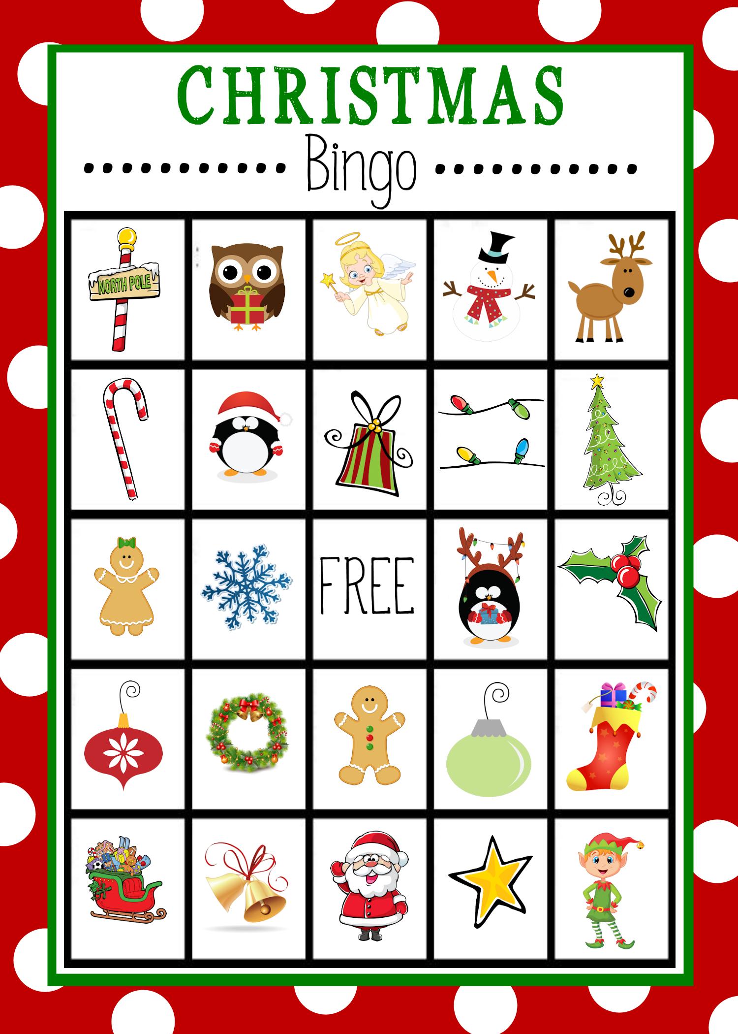 Free Printable Christmas Bingo Game | Christmas | Pinterest - Free Christmas Bingo Game Printable