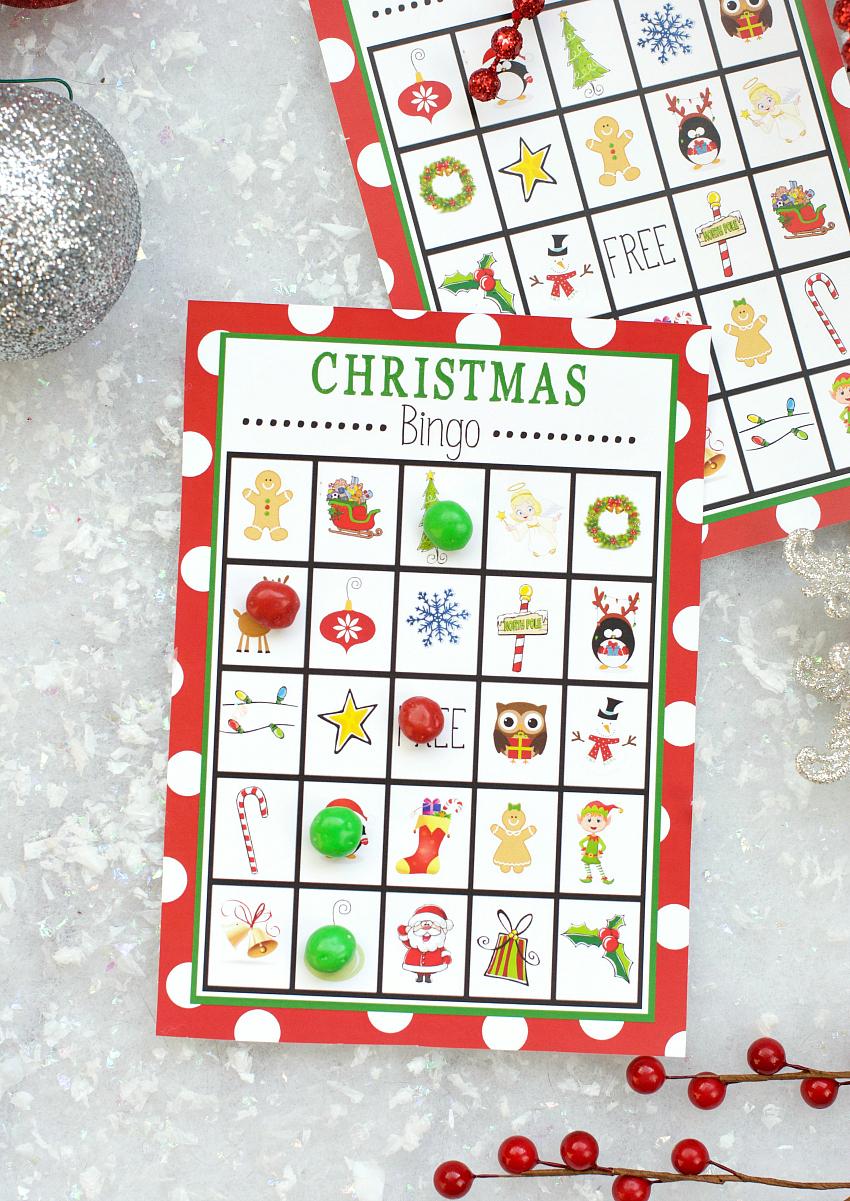 Free Printable Christmas Bingo Game – Fun-Squared - Christmas Bingo Game Printable Free