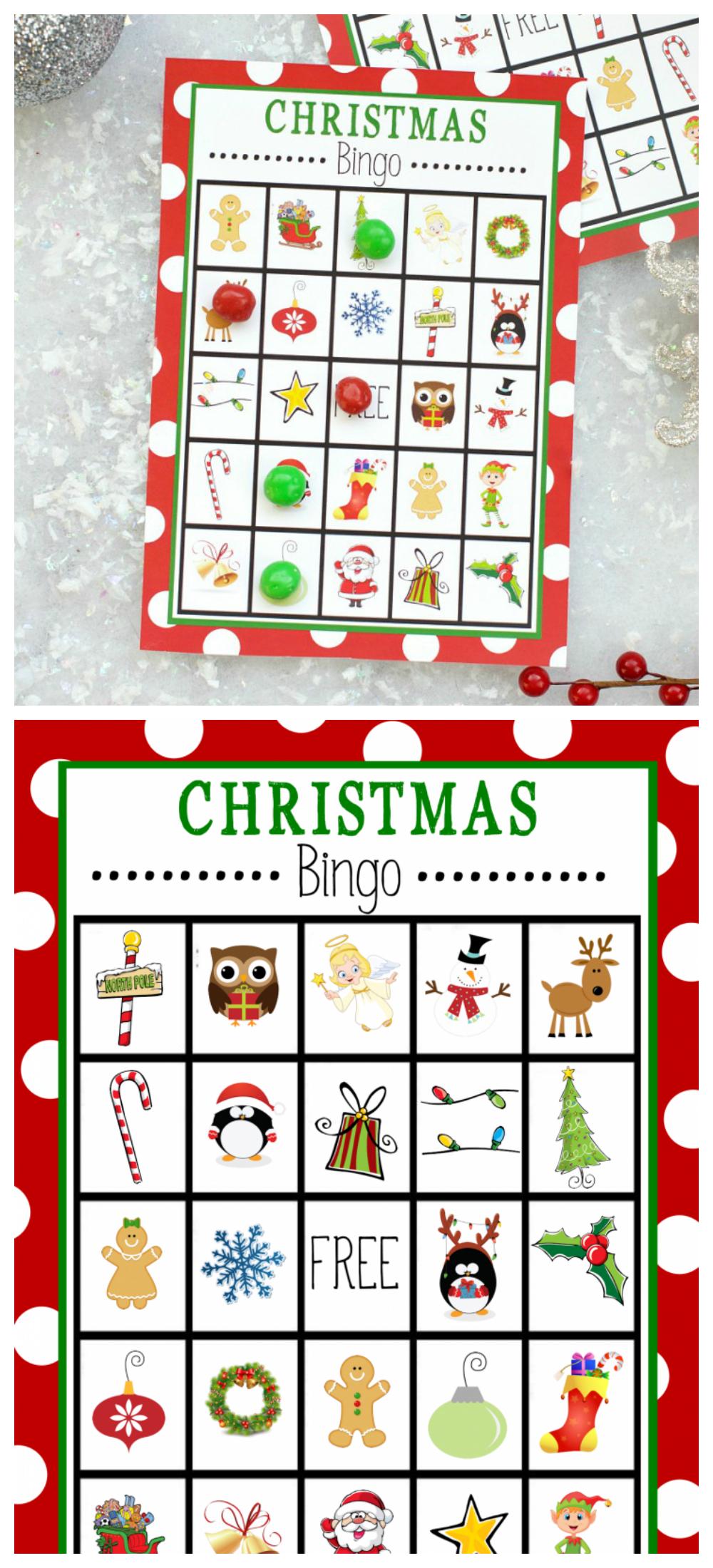 Free Printable Christmas Bingo Game – Fun-Squared - Free Printable Christmas Bingo Cards