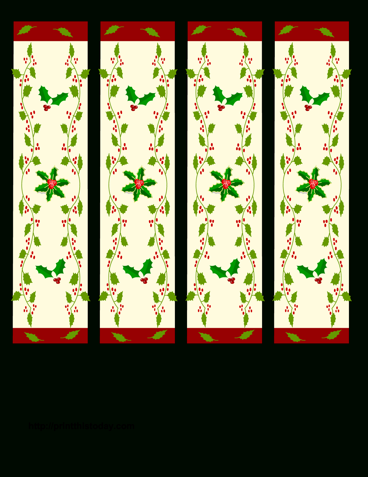 Free Printable Christmas Bookmarks | Christmas Printables - Free Printable Bookmarks For Christmas
