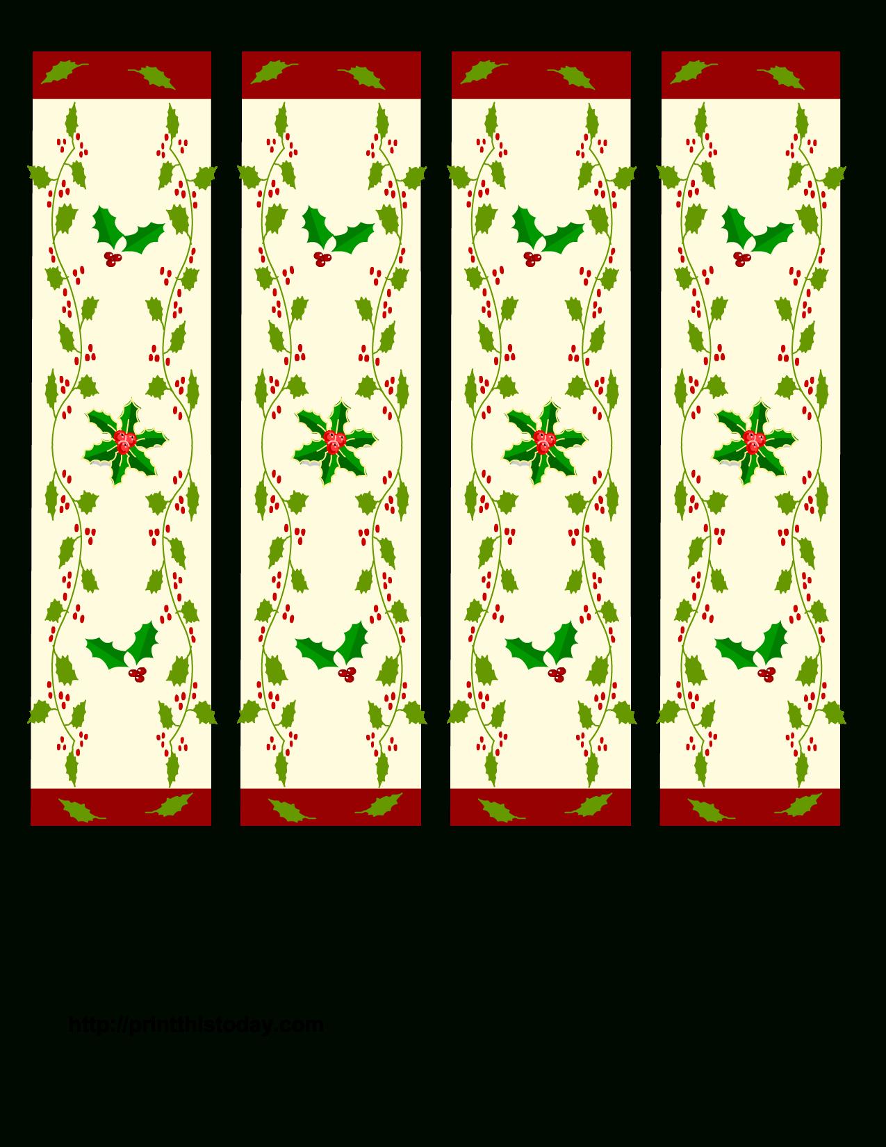 Free Printable Christmas Bookmarks | Christmas Printables - Free Printable Christmas Bookmarks To Color