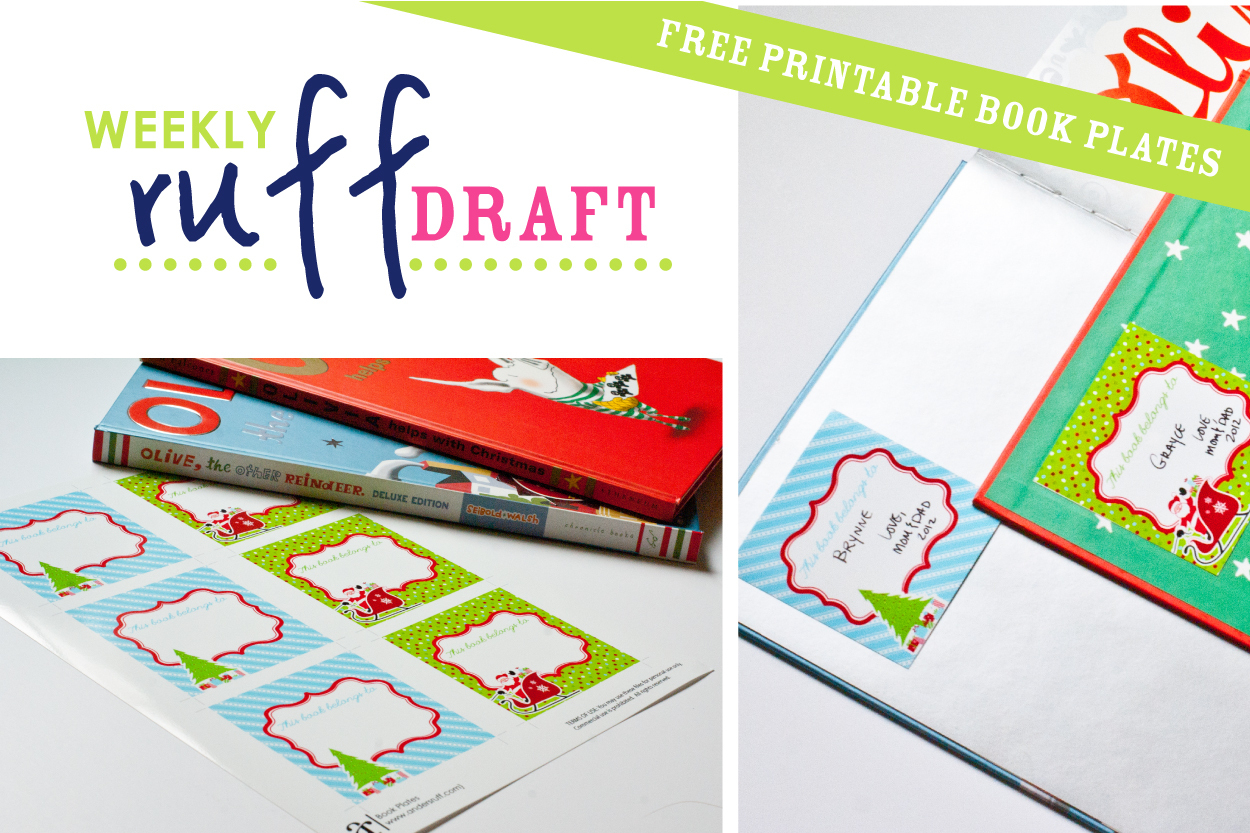 Free Printable Christmas Bookplates – Festival Collections - Free Printable Christmas Bookplates