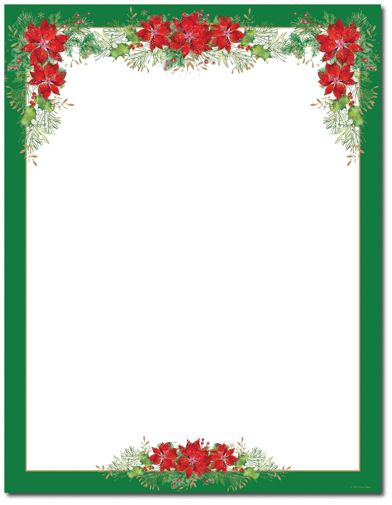 Free Printable Christmas Border Templates | Christmas Art - Free Printable Christmas Border Paper