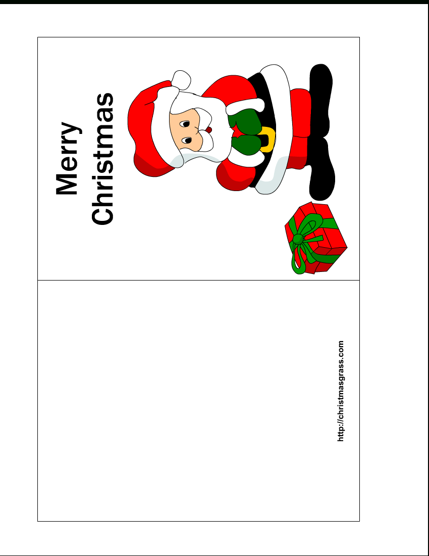 Free Printable Christmas Cards | Free Printable Christmas Card With - Free Printable Christmas Card Templates