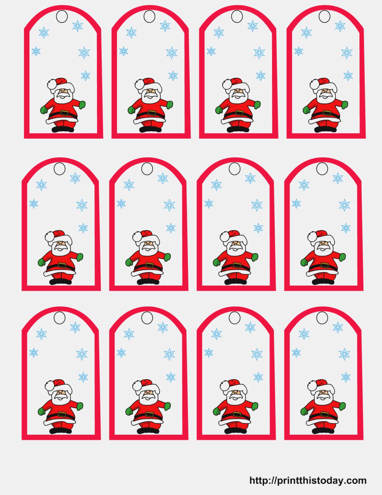 Free Printable Christmas Cards   Printable Santa Claus Christmas - Free Printable Christmas Labels