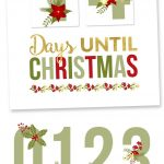 Free Printable Christmas Countdown | Bake Craft Sew Decorate   Free Printable Christmas Photo Collage