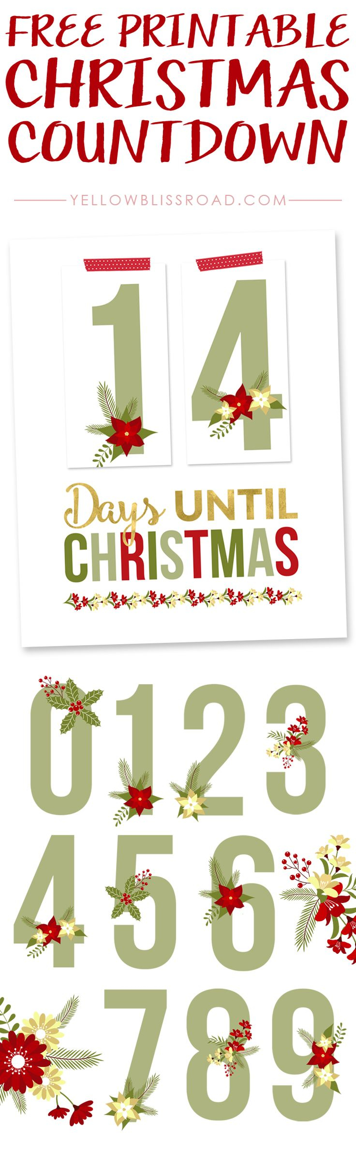 Free Printable Christmas Countdown | Bake Craft Sew Decorate - Free Printable Christmas Photo Collage