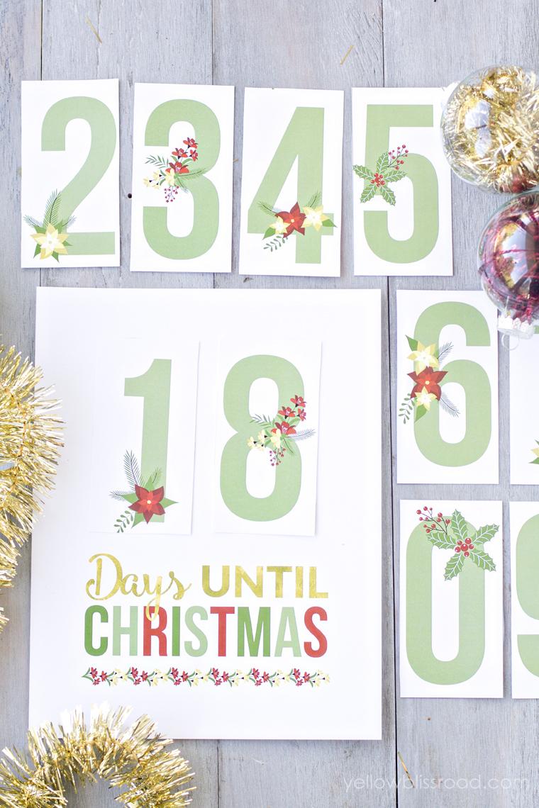 Free Printable Christmas Countdown - Yellow Bliss Road - Free Printable Christmas Photo Collage