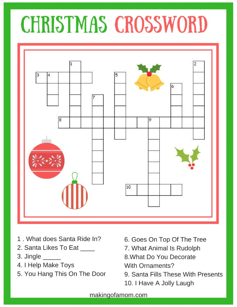 Free Printable Christmas Games - Making Of A Mom - Free Games For Christmas That Is Printable