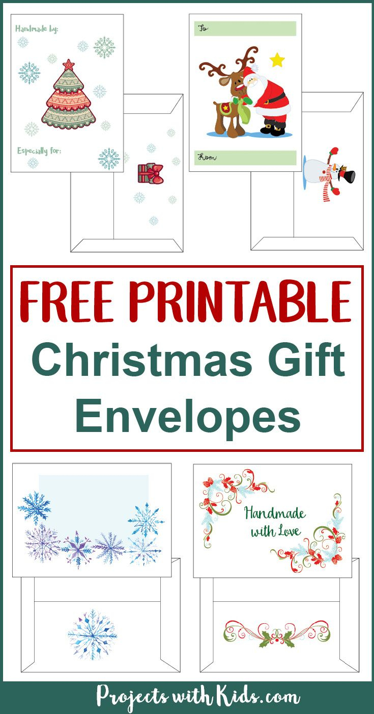 Free Printable Christmas Gift Envelopes | Envelopes | Free Christmas - Free Printable Envelopes
