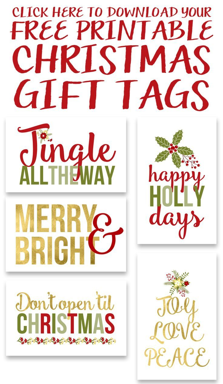 Free Printable Christmas Gift Tags | Free Printables & Downloads - Free Printable Christmas Gift Tags