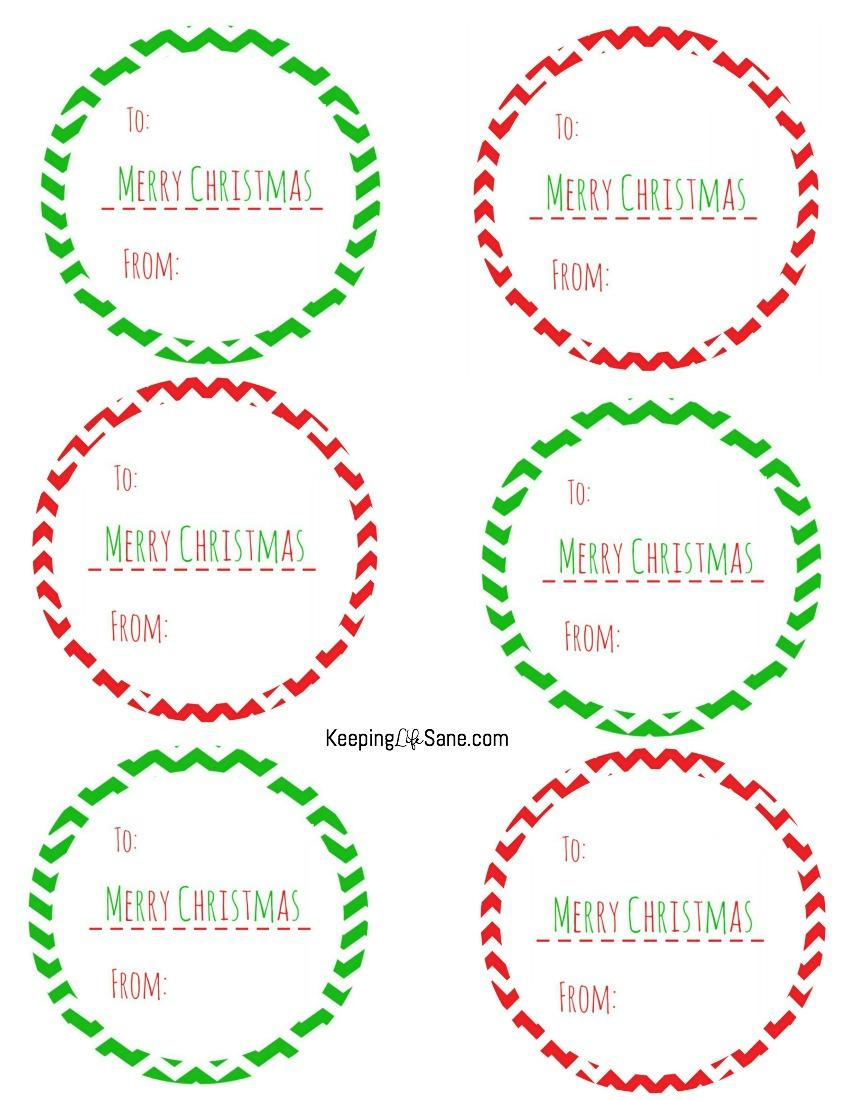 Free Printable Christmas Gift Tags - Keeping Life Sane - Free Printable Holiday Labels