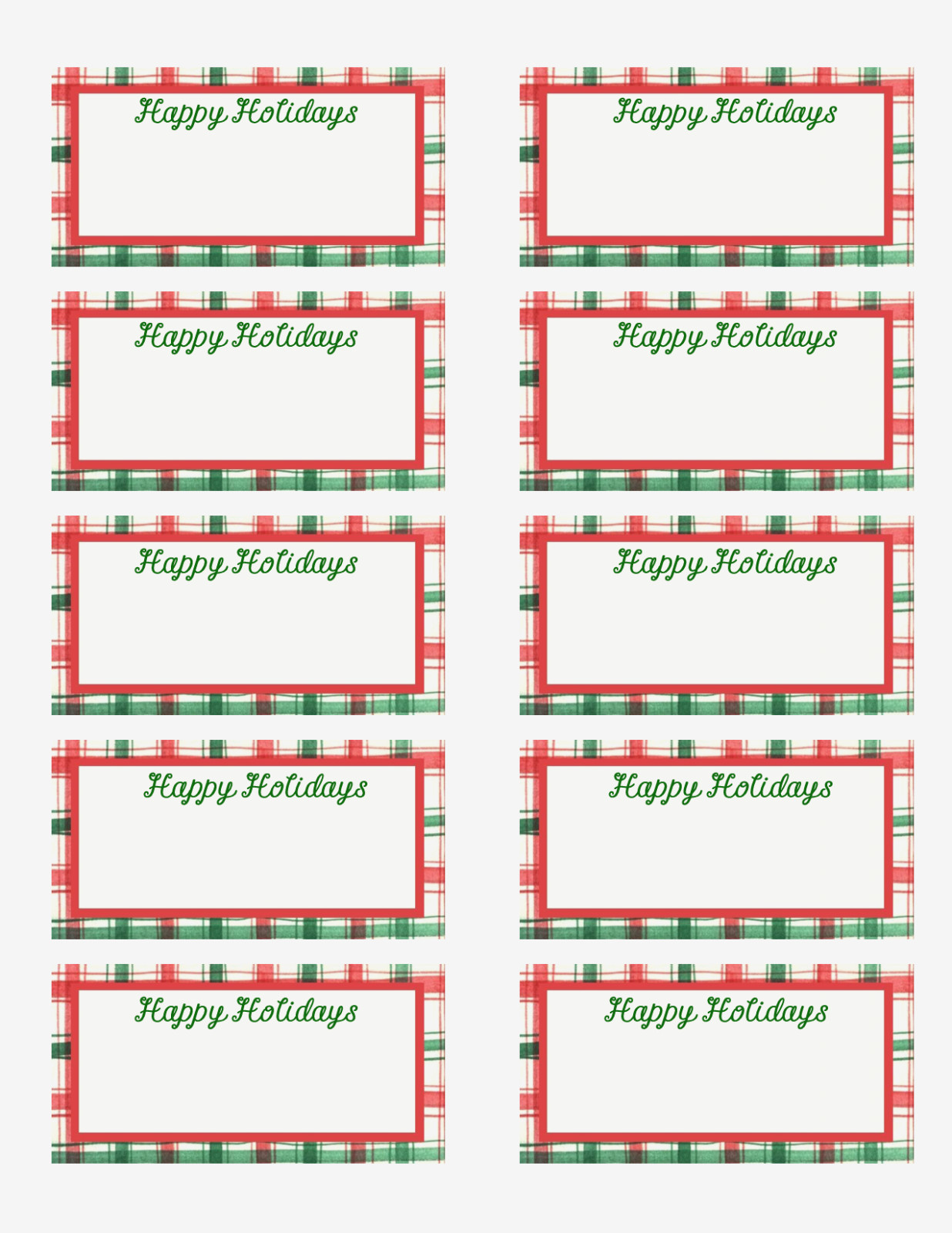 Free Printable Christmas Labels Template – Christmas Printables - Free Printable Holiday Labels