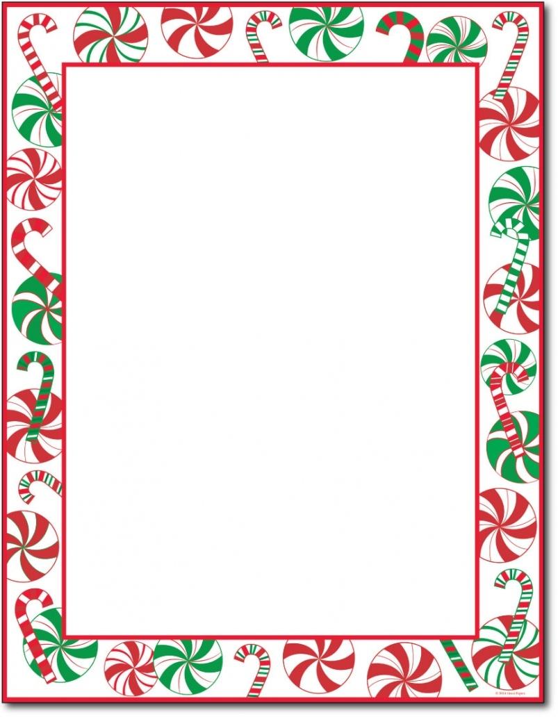 Free Printable Christmas Letterhead Paper – Festival Collections - Free Printable Christmas Letterhead