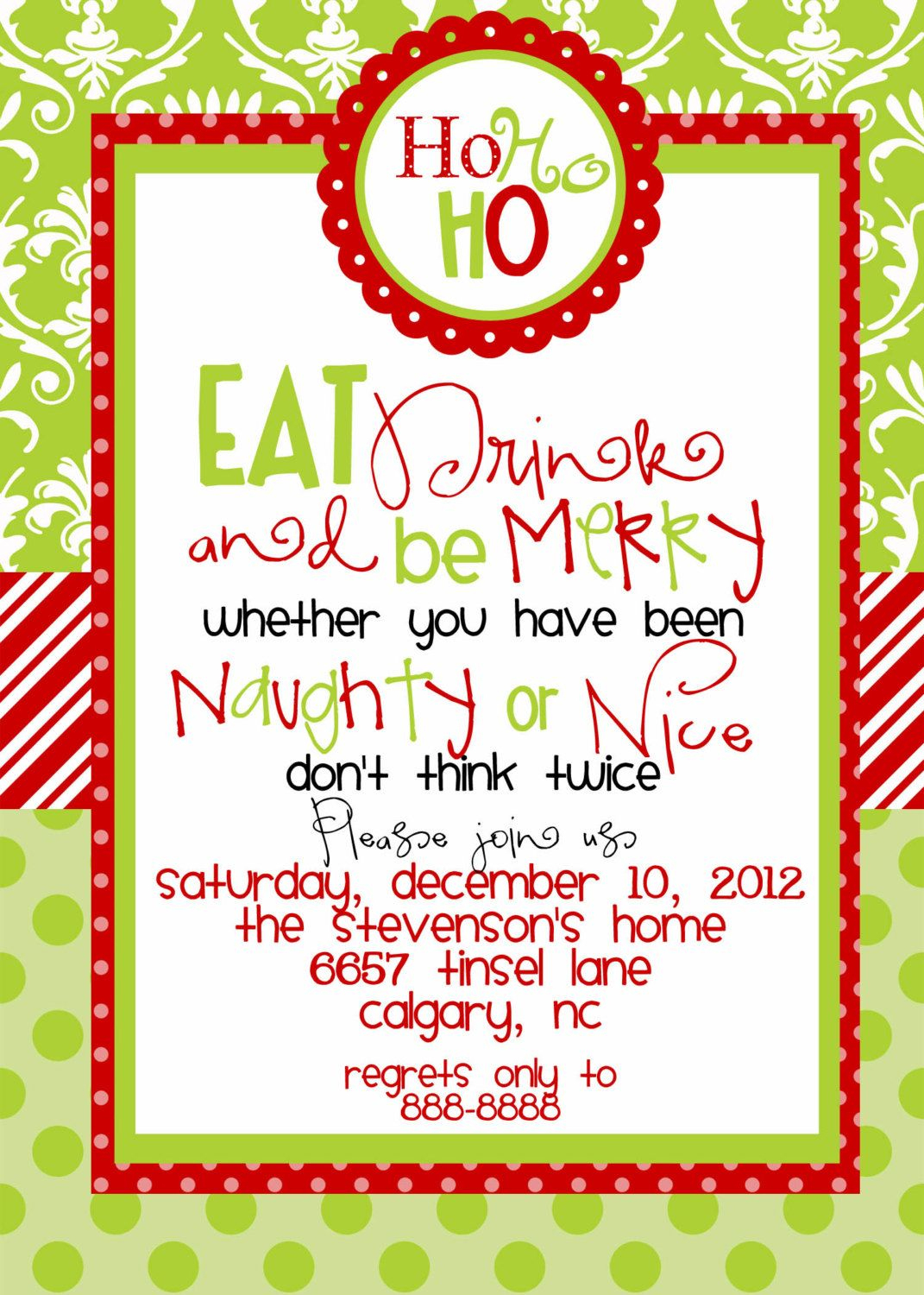Free Printable Christmas Luncheon Invitations | Holiday Ideas - Free Printable Christmas Invitations
