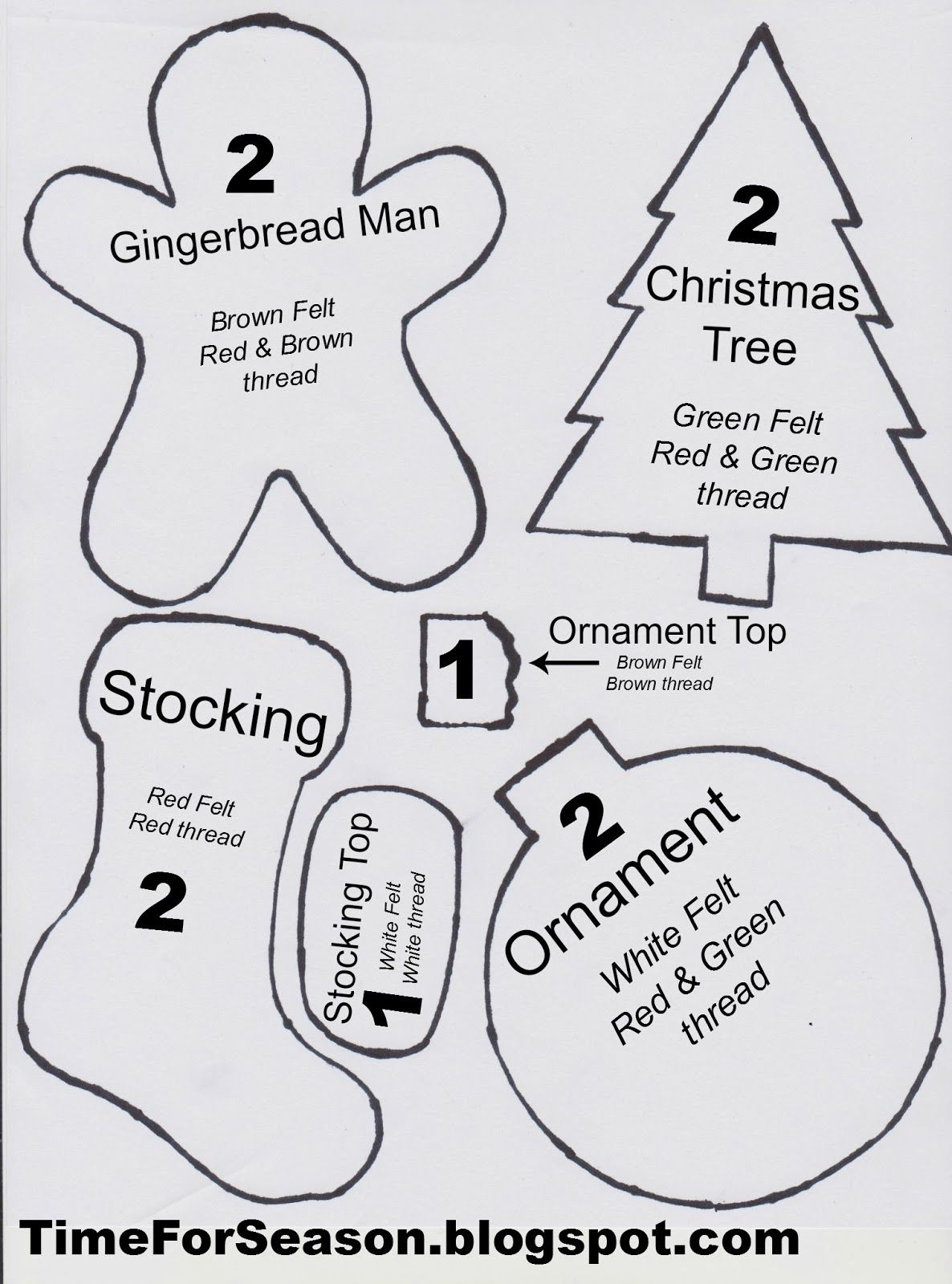 Free Printable Christmas Ornament Crafts – Festival Collections - Free Printable Christmas Ornament Crafts