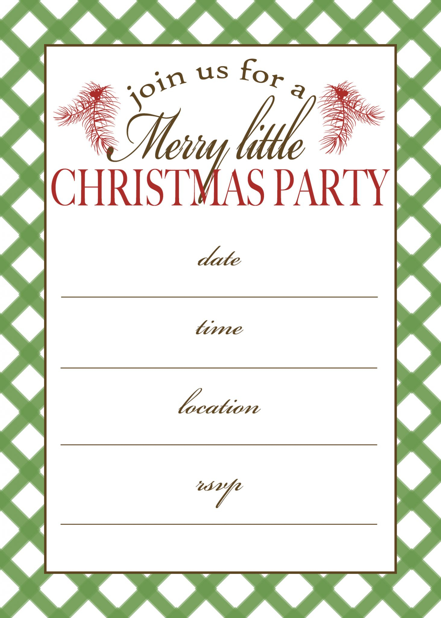 Free Printable Christmas Party Invitation | Moritz Fine Designs - Free Printable Christmas Invitations