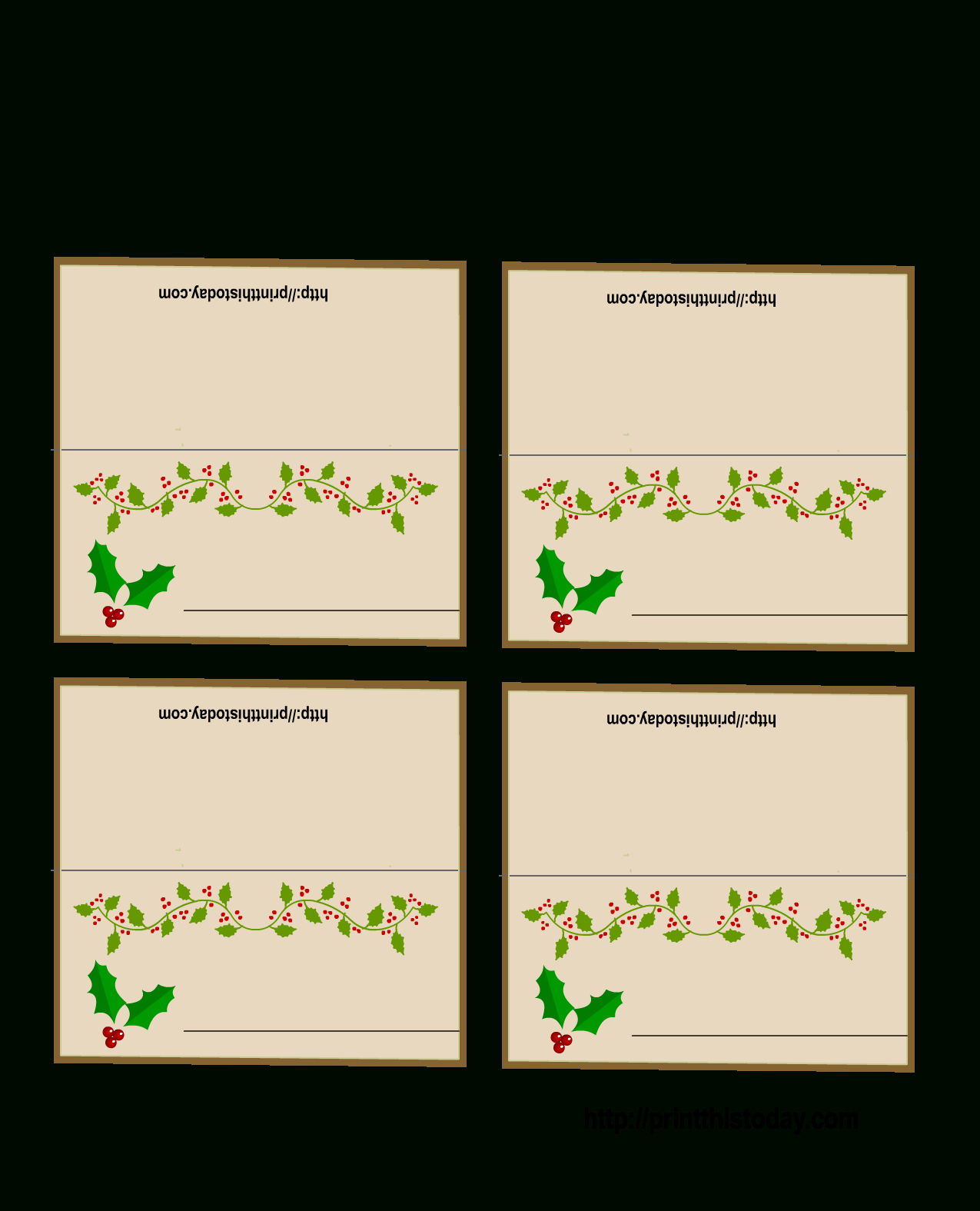 Free Printable Christmas Place-Cards - Free Printable Place Cards