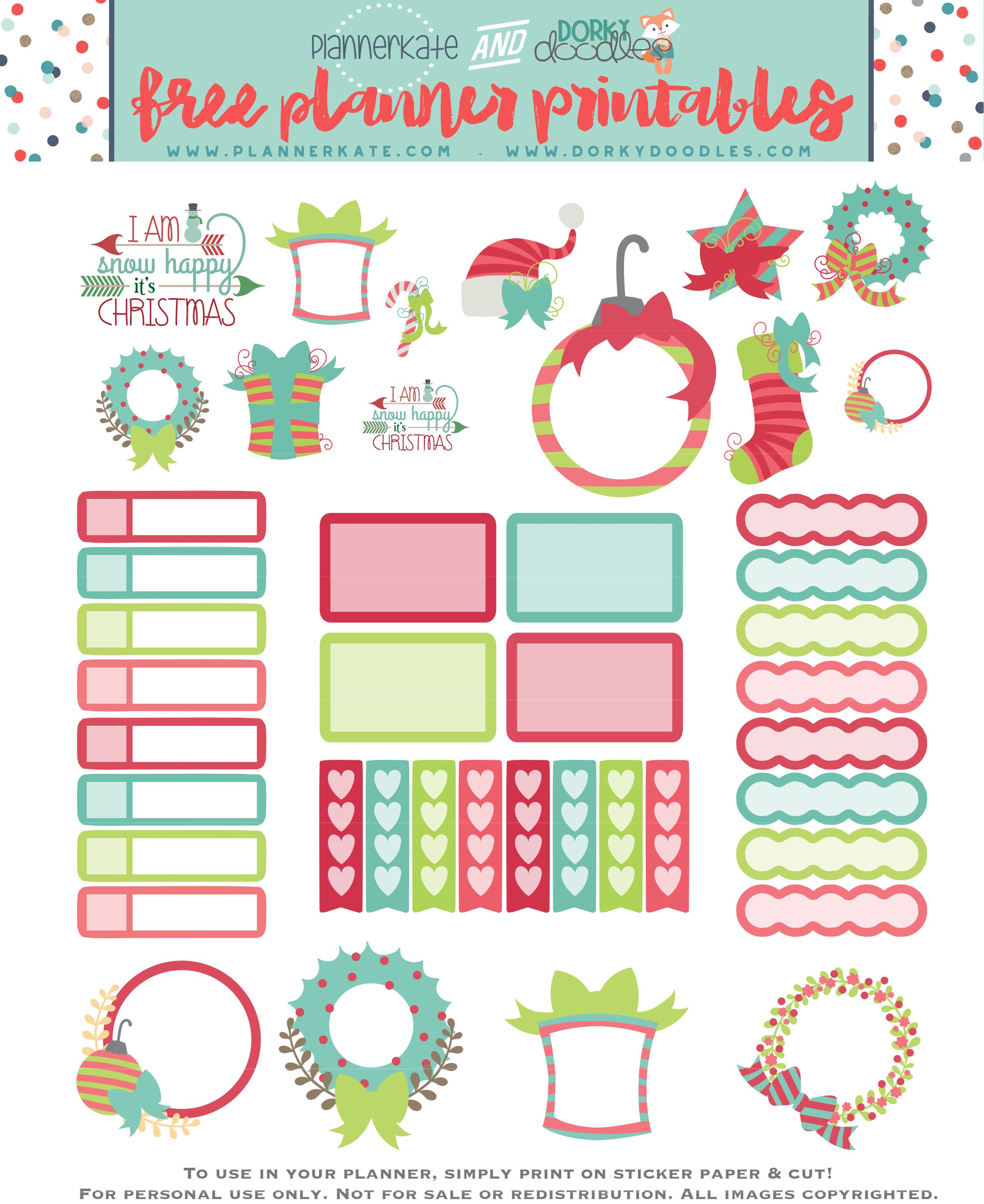 Free Printable Christmas Planner Stickers | Stickers - Free Printable Holiday Stickers