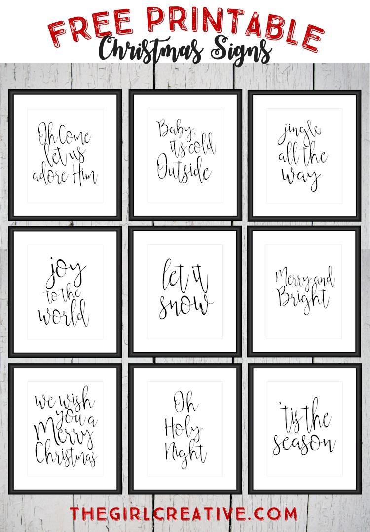 Free Printable Christmas Signs   Christmas   Pinterest   Christmas - Free Printable Signs