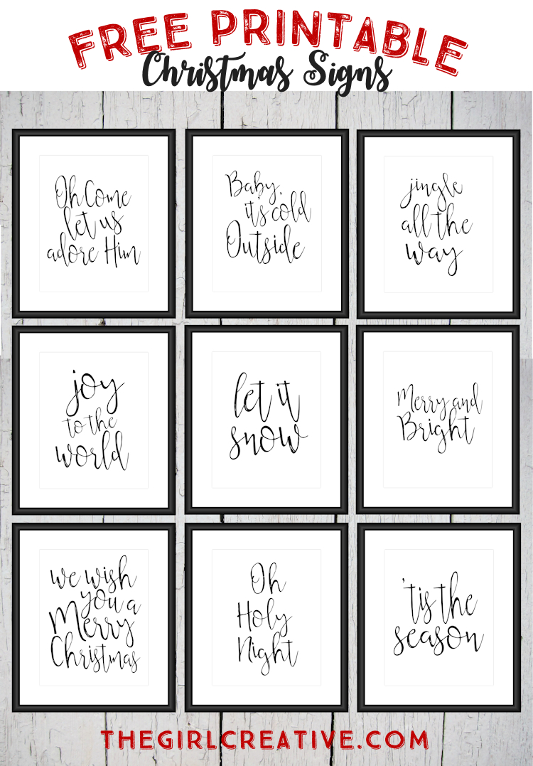 Free Printable Christmas Signs | The Top Pinned | Pinterest - Free Printable Closed Thanksgiving Day Signs