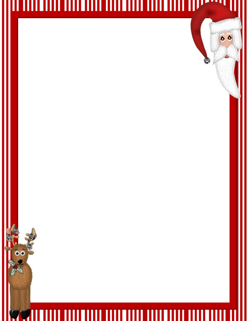 Free Printable Christmas Stationary Borders | Christmasstationery - Free Printable Christmas Stationary