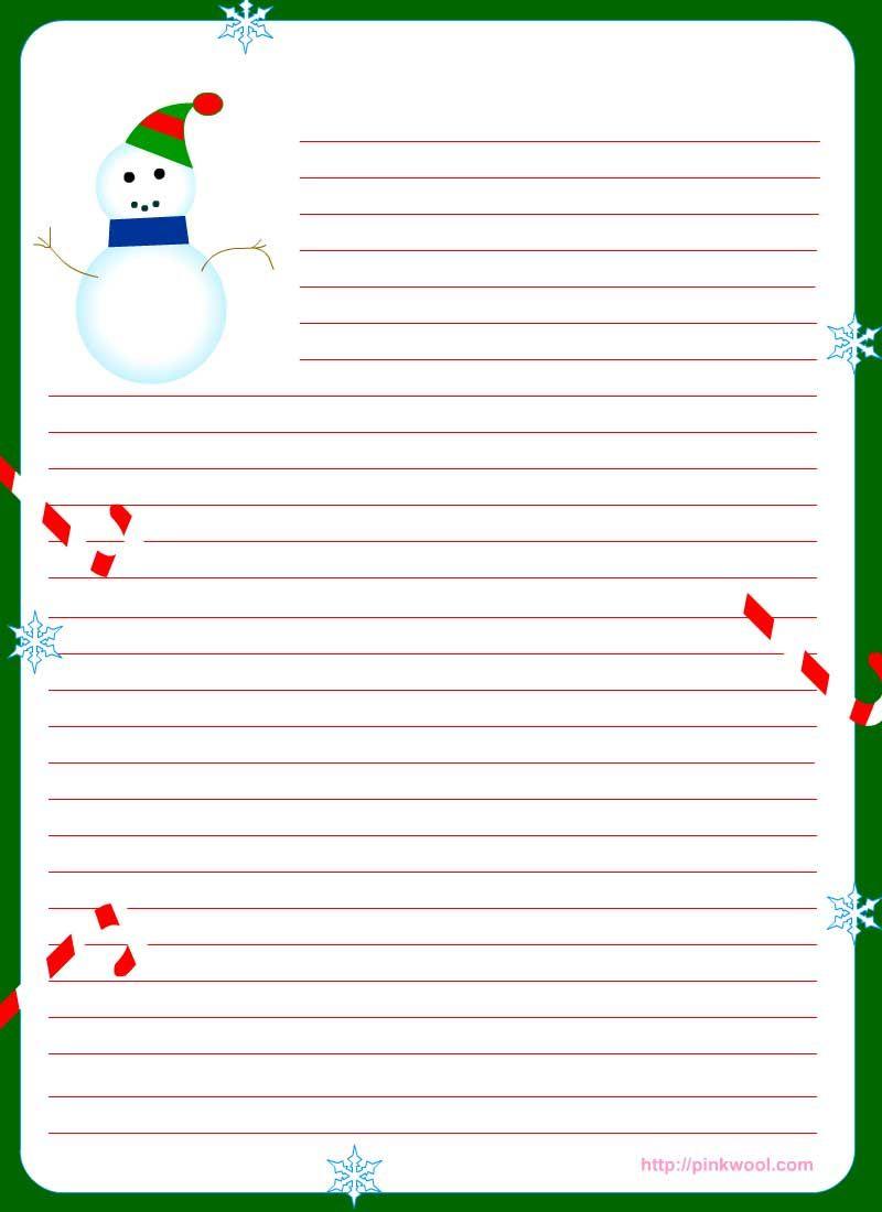 Free Printable Christmas Stationary | Stationary | Christmas - Free Printable Snowman Stationery
