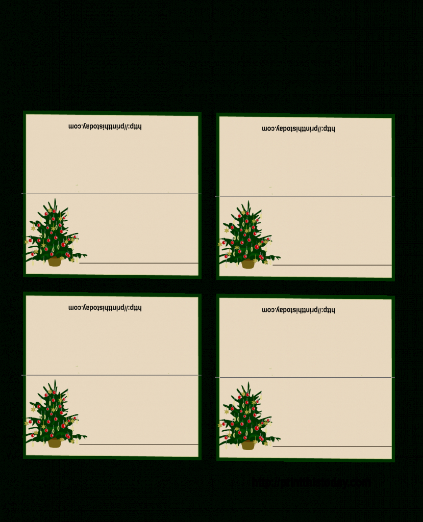 Free Printable Christmas Tree Place Cards | *+* Free Holiday | Free - Free Printable Christmas Table Place Cards Template