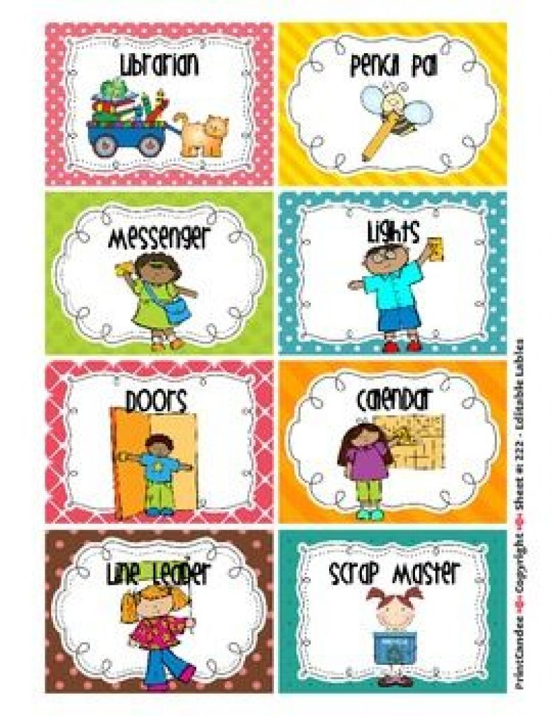 Free Printable Classroom Helper Signs | Free Printable - Free Printable Classroom Helper Signs