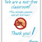 Free Printable Classroom Signs | Signup   Printable Peanut Free Classroom Signs