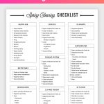 Free Printable Cleaning Checklist   Spring Cleaning Planner!   Free Printable Cleaning Schedule