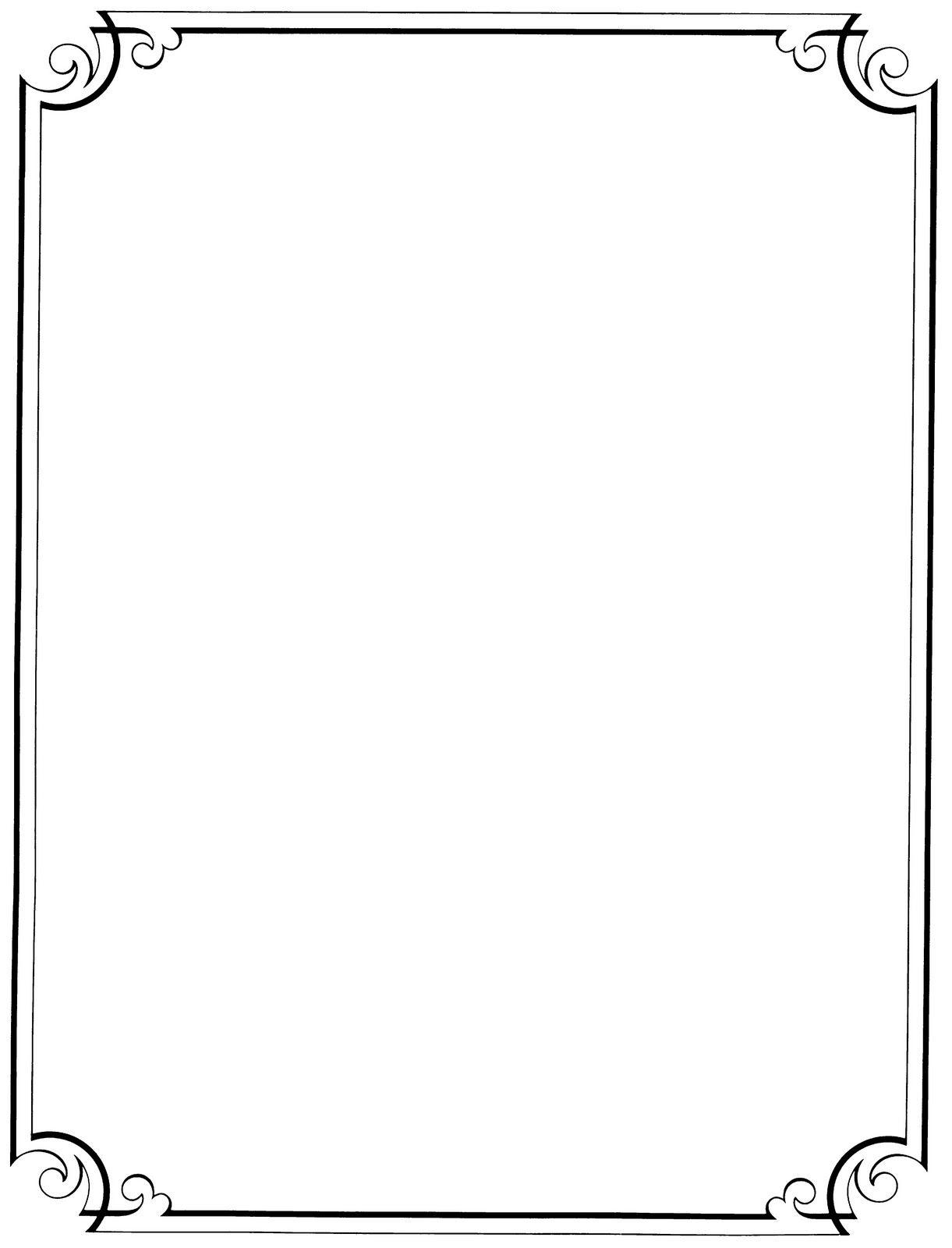 Free Printable Clip Art Borders |  : Free Vintage Clip Art - Free Printable Letterhead Borders