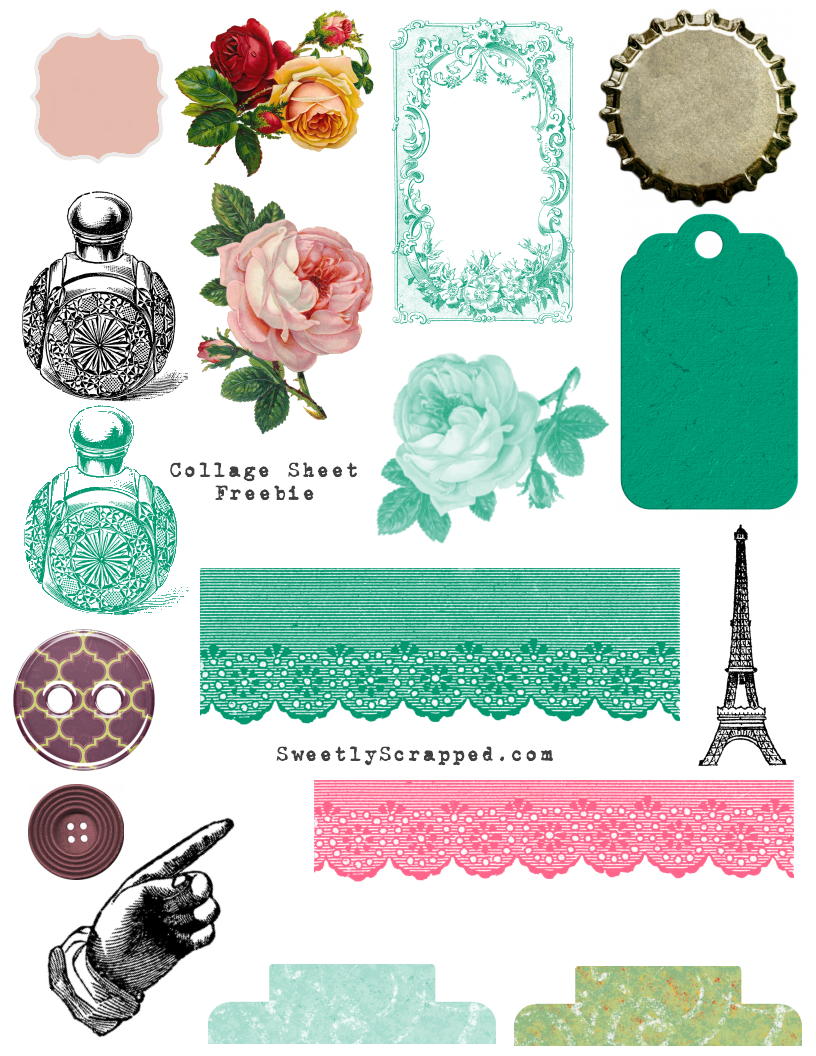 Free Printable Collage Sheets - Sweetly Scrapped 's Free Printables - Free Printable Picture Collage