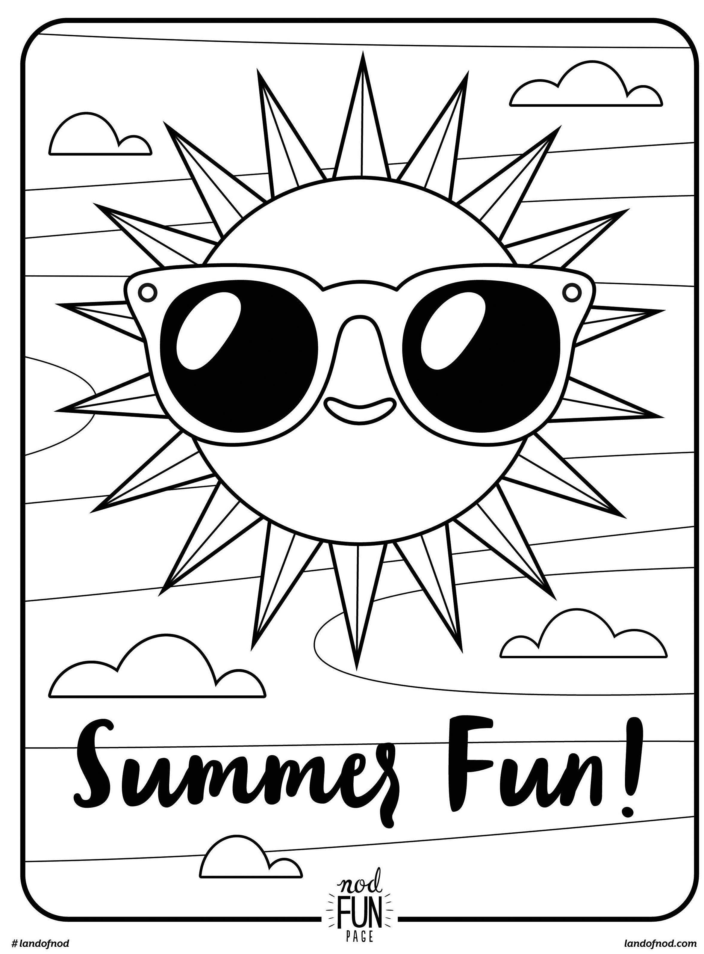 Free Printable Coloring Page: Summer Fun | Summer | Pinterest - Summer Coloring Sheets Free Printable