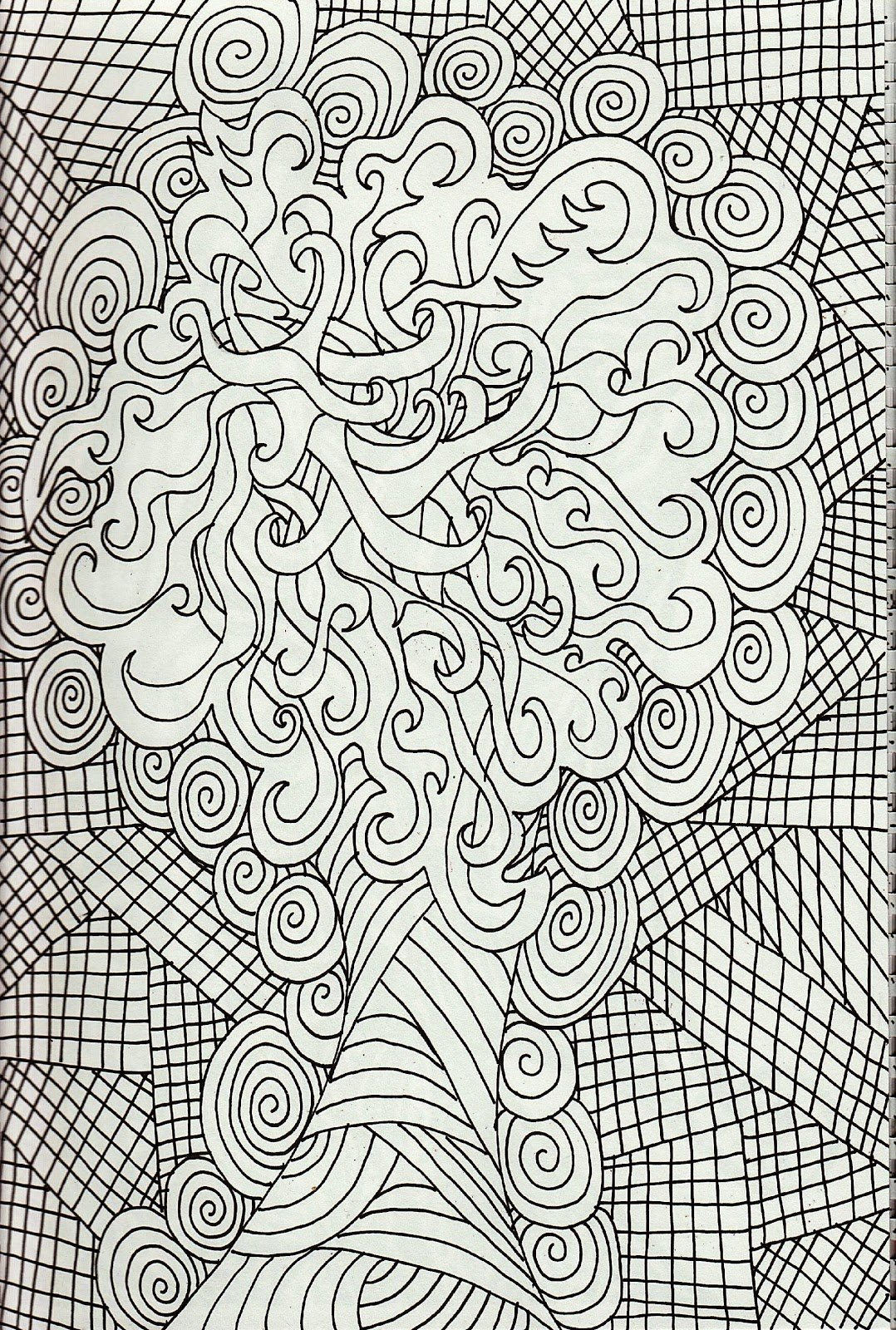 Free-Printable-Coloring-Pages-For-Adults-Advanced-Dragons-Adult - Free Printable Coloring Pages For Adults Advanced