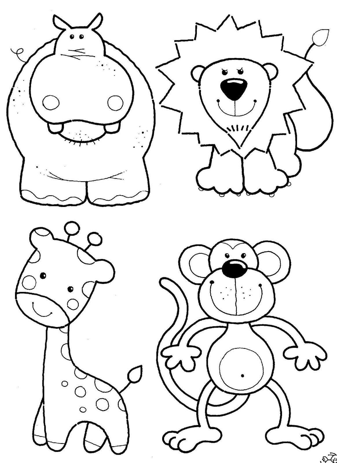 Free Printable Coloring Pages Preschoolers   Coloring Pages Animals - Free Printable Coloring Pages For Preschoolers
