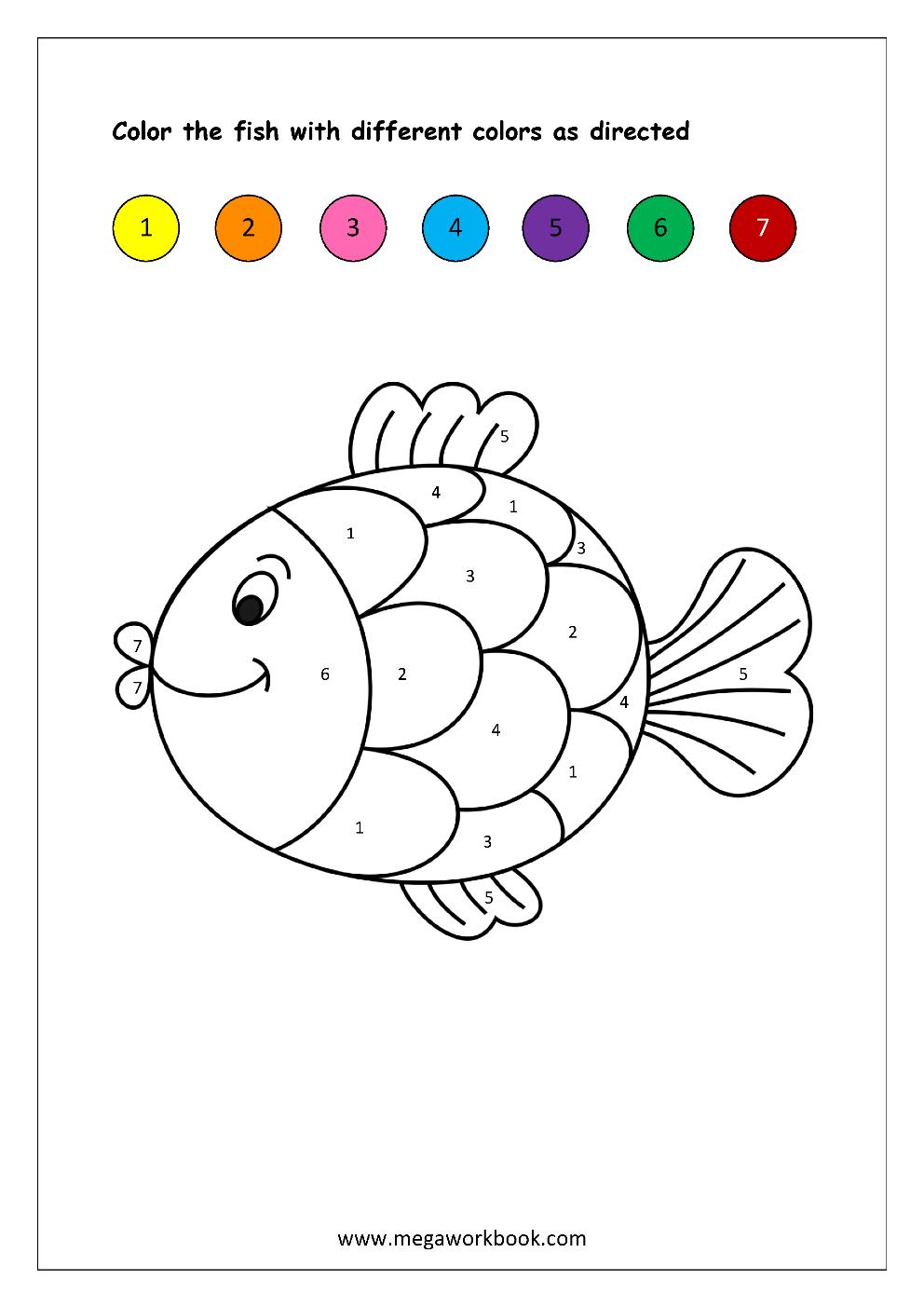 Free Printable Colornumbers Worksheets - Color Recognition For - Color Recognition Worksheets Free Printable