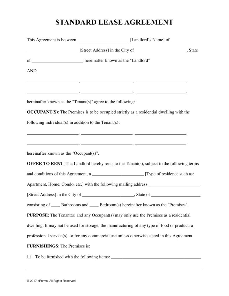 Free Printable Condo Lease Agreement - 2.13.kaartenstemp.nl • - Free Printable Lease Agreement