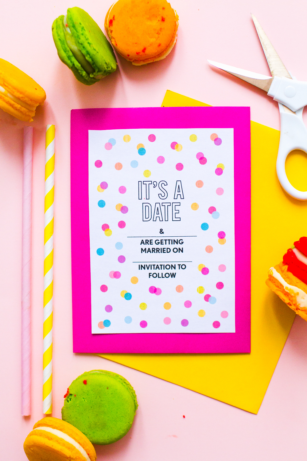 Free Printable Confetti Save The Date - Bridalpulse - Free Printable Save The Date
