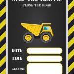 Free Printable Construction Invitation | Free Printable Birthday   Free Printable Construction Invitations